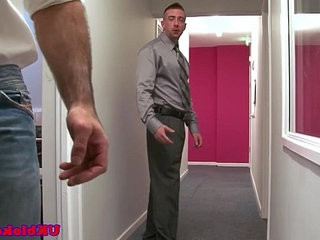 English stud fucks co worker in office | fucking   hairy guy   office   stud