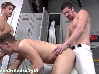 Big dick loving Riley Banks spitroasted | big porn  bigcock  dicks  loving