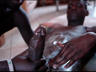 Black african threesome with facial cumshot | african xxx  black tv  cumshots  threesome  twinks