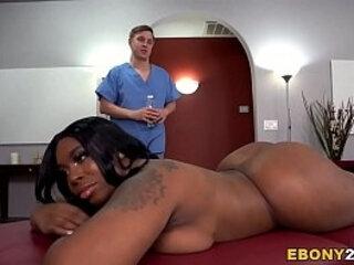 BBW Ebony Ms London Gets Fucked Hard After Massage | ebony gay  fucking  getting  hardcore  london  massage
