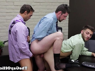 Office hunks have an assfucking threeway | hunks best   office   threeway   uniform
