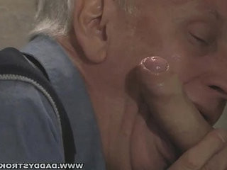 Daddy Sucking Cock Through The Gloryhole | big porn  blowjobs  cocks  daddy  gloryhole  sucking