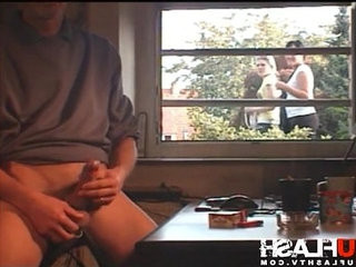 Public Window Dickflash Exhibitionist Voyeur Caught Spy Cum | caught   cums   fisting   public   voyeur