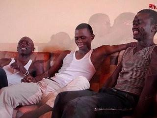 Black African Threesome Sucking Fun | african xxx  black tv  fun film  sucking  threesome  twinks