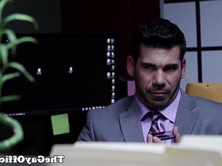 Muscled businessman assfucked by hunky stud | anal top   hunks best   muscular   stud